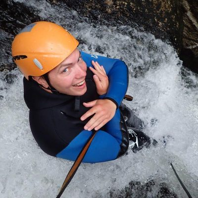 New Zealand waterfall canyoning
