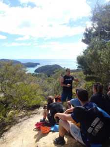 Story time in the Abel Tasman