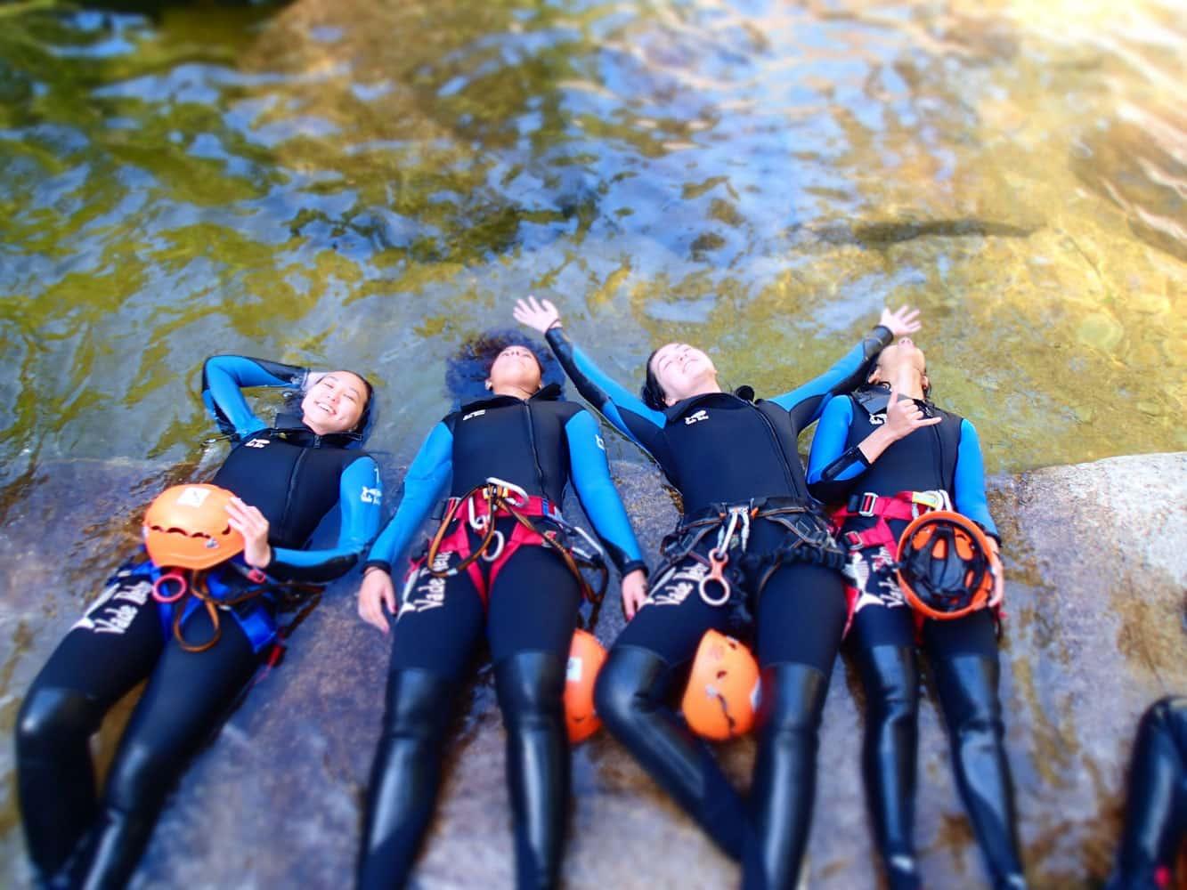 Female guides of Abel Tasman Canyons