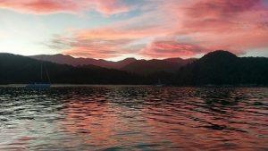 Sunset over the Abel Tasman National Park