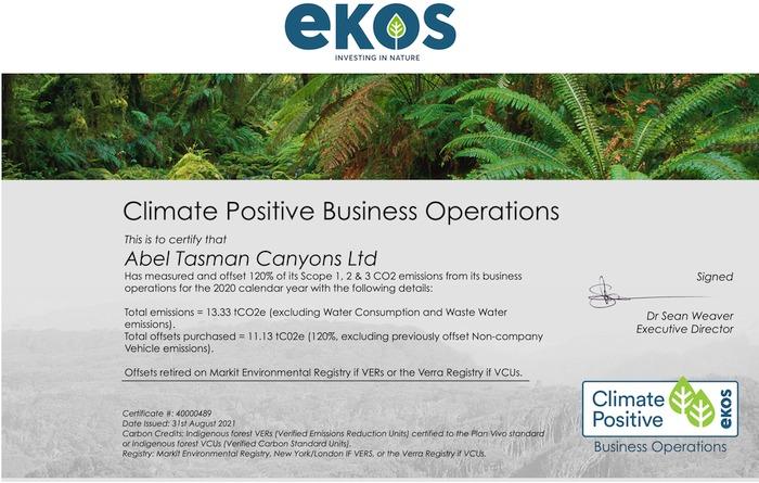 Eco Friendly Abel Tasman EKOS